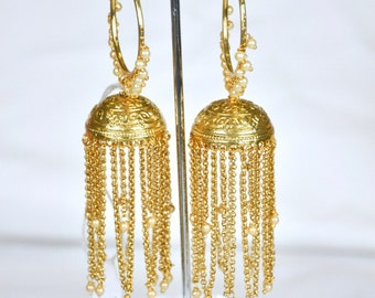 Antique waterfall Jhumkis | Indian Jewelry | Indian Earrings | indian jhumkas