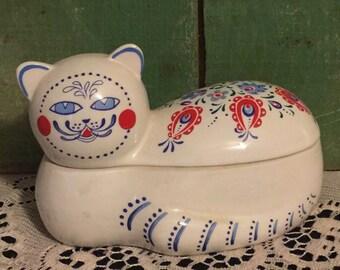 Oriental Express Cat Dish Made for Elizabeth Arden; Exquisitely Designed