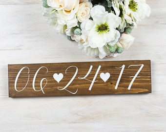 Wedding Date Sign- Save the Date Sign- Wedding Photo Prop Sign- Engagement Photo Sign- Bridal Shower Gift- Bridal Shower Decor