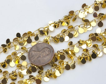 Cluster Coin Chain Brass. By THE YARD  4mm