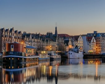 The Shore in Leith at Dusk, Edinburgh (Digital Download)