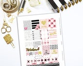 Planner Stickers | PDF & JPEG Printable suitable for Erin Condren, Plumpaper, Happy Planner Weekly Planners