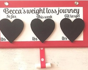 Magnetic weight loss plaque, fitness, healthy, health, chalk board