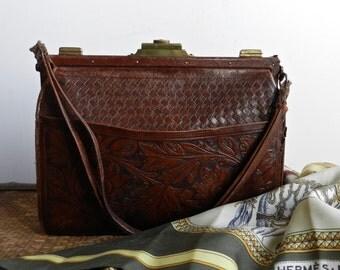Petit sac de soirée vintage en cuir