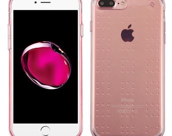 Transparent /  ROSE iPhone 7 / 8 Plus  TPU Gel  Case