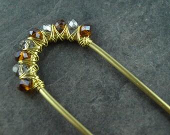 hairpin INA,wire work,brass