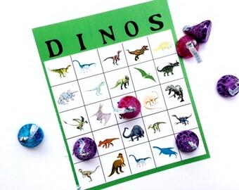 Dinosaur Bingo Game Download and Printable