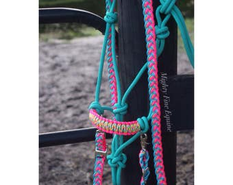 Custom Bitless Bridle & Paracord Rein Set