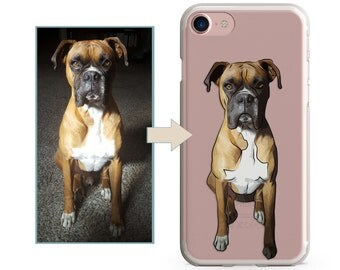 Custom Personalized illustrated Dog iPhone Case, Hand Drawn iPhone Cover, Image illustration, iPhone 7 case, iPhone 7 plus case