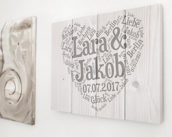 Wedding gift, wooden sign wedding, bride and groom