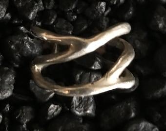 Silver Adjustable Branch Ring