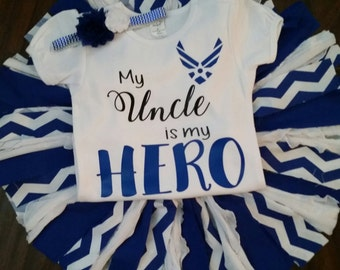 Airforce tutu set My uncle is my Hero