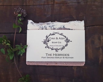 The Hebrides | Heather, Peat Smoked Barley & a Touch of Smoke | Vegan Cold Process Soap