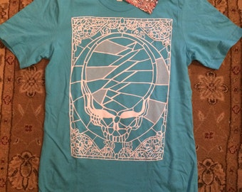 Grateful Dead 50 years small t- shirt screen print Jerry Garcia Bob Weir Phil Lesh Mickey Billy Phish