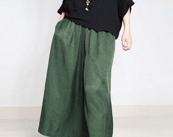 women leisure pant/women green pant/women trouses/women wide leg pants/women comfortable pants/women silk pants/women trouses/TZ17FEBP1725