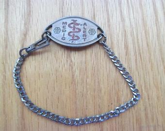 Sterling Vintage Medic Alert Bracelet
