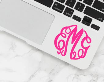 Monogram Decal, Vinyl decal, Monogram sticker