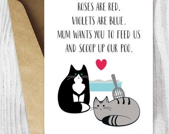 Printable Valentine Card Funny Cat Valentines Day Card