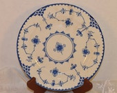 Copenhagen Lunch Plate Vintage Blue and White Salad Plate Made in England Blue & White China Transferware English China Decoration