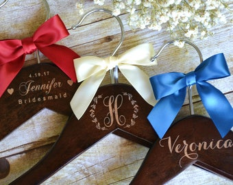 4th Of July Wedding Red White And Blue Personalized Hangers Military