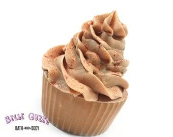 Cupcake Soap   Hazelnut Vanilla   cold process soap   natural soap  toasted hazelnut   cute soap   novelty soap   with Cocoa butter   girly