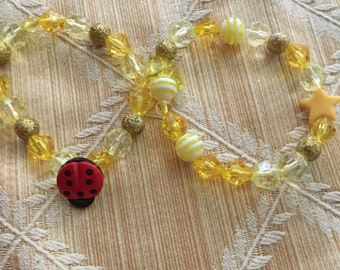 Yellow Lady Bug set