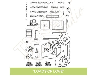 "TRS ""Loads of Love"" Clear Stamp set"