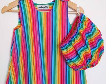 Rainbow Baby Summer Dress and Bloomers