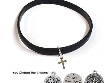 Mens Cross Bracelet- Mens Religious Bracelets- Mens Religious Jewelry- Christian Jewelry for Men- Mens Inspirational Jewelry- Mens Jewelry