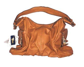 MONDANI New York Newberry Faux Leather Hobo Slouch Handbag/Pocketbook/Purse Brown Fawn tagged