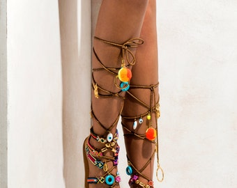 "Sandals ""Piñata"" (handmade to order)"