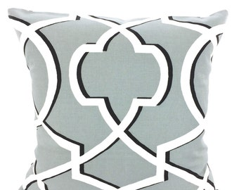 Grey Decorative Throw Pillow Covers, Cushions, Cool Gray Black White Morrow, Couch Pillows Throw Pillow, Geometric, One or More All Sizes