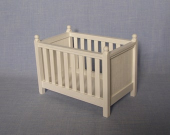 Miniature Cradle for doll / Crib 1:6 scale / Baby Bed/ Barbie size furniture