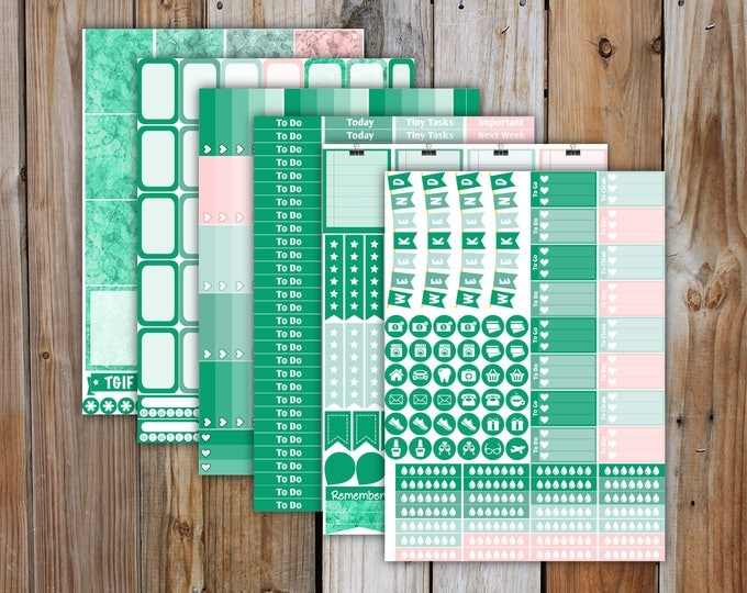 June Erin Condren DELUXE Planner Stickers Monthly Kit (4 weeks of stickers) | for use with Erin Condren LifePlanner | June 2017