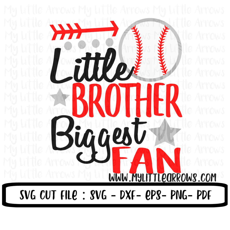 Little Brother Biggest Fan Svg Baseball Little Brother