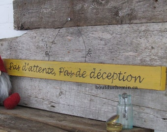 Hand painted sign french