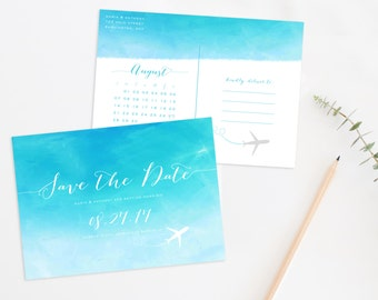 Destination Wedding Save the Date Postcard, Destination Wedding, Beach Wedding Save the Date, Beach Wedding Save the Date