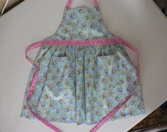 Girls Apron Easter Apron With Pockets Easter Egg Apron Easter Basket Glitter Fabric