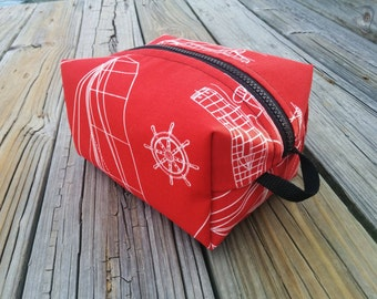 Sail Boat  Toiletry Bag -  Travel Bag - Tool Pouch - Utility Bag