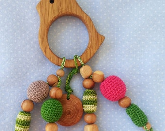 Wooden Teether | Bird Teether | Organic Teethers | Teething Toy | Best Teething Toy | Fine Motor Skills | Educational Toy | Eco Friendly Toy