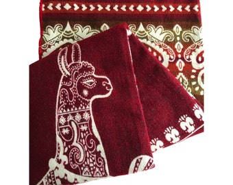 Handwoven Red Blanket / Throw