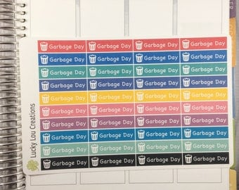 Set of 40 Garbage Day Planner Stickers
