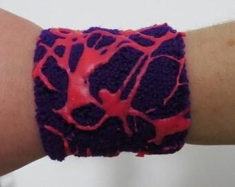 Cyberpunk/Cybergoth Latex UV Wristband, Unicorn Aesthetic, Rave, Neon, Clubbing