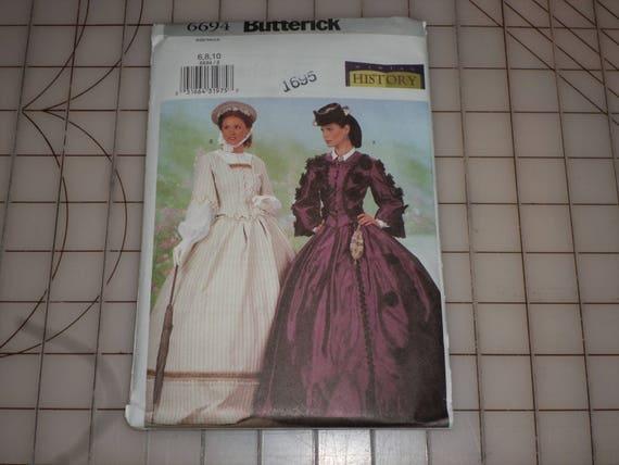 BUTTERICK 6694 Nähen Muster Bürgerkrieg Frauen Kleid