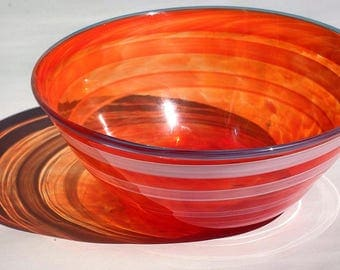Blown Glass Fruit Bowl