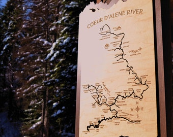 Coeur d'Alene River Wood Map