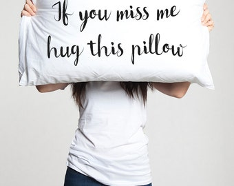 Long Distance Boyfriend Gift Pillowcase Long Distance Love Long Distance Relationship Boyfriend Gift for boyfriend  for him LDR I miss you