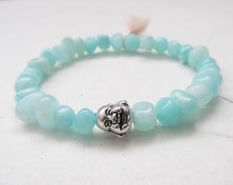 Buddha bracelet, agate bracelet, yoga bracelet
