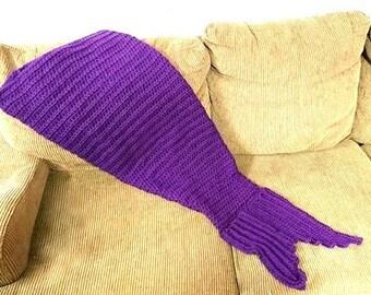 Mermaid Tail Blanket, Mermaid Blanket, Adult Mermaid Tail Blanket, Kids Mermaid Tail Blanket, Crochet Mermaid Tail, Child Mermaid Tail