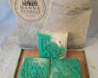 Electric Lemonade - Mica Swirl - 2 ounce bars - hand soap - bridal shower gift - wedding favor - shea butter soap